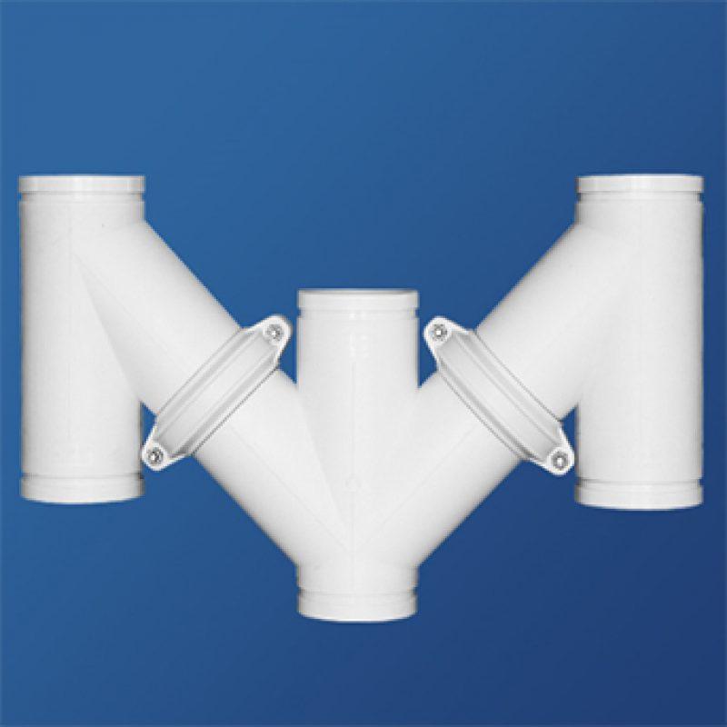 防臭型M管件丨地面清扫口丨HDPE沟槽式连接静音管