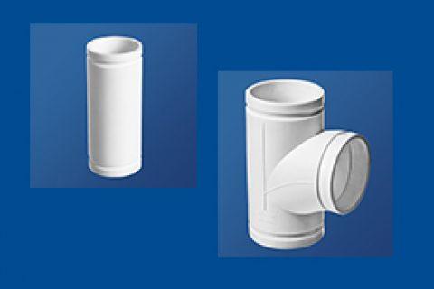 HDPE沟槽式连接静音排水管材丨等径顺水三通丨HDPE沟槽式连接静音管