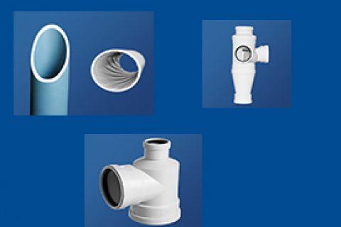 聚丙烯静音排水管材丨瓶形三通丨聚丙烯静音管