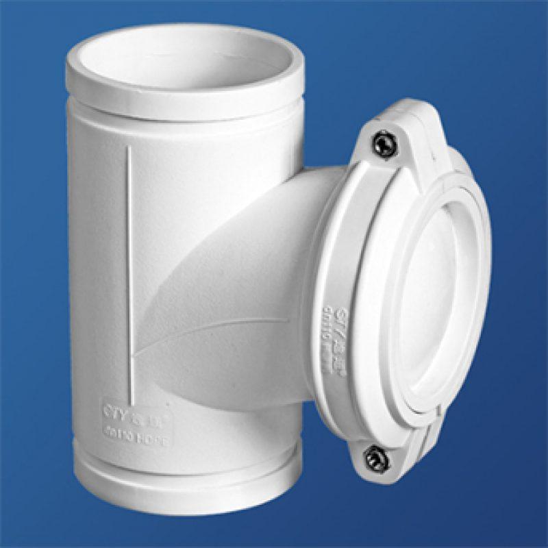 立管检查口丨伸缩节丨HDPE沟槽式连接静音管