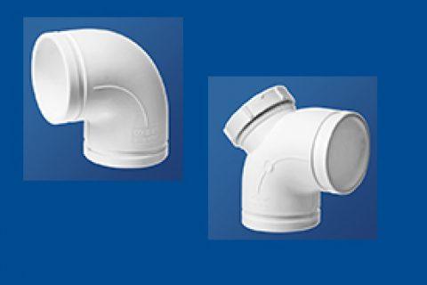 90°弯头丨90°弯头带检丨HDPE沟槽式连接静音管