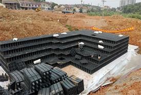 雨水收集系统PP模块安装以及防渗土工布在施工时需注意的事项