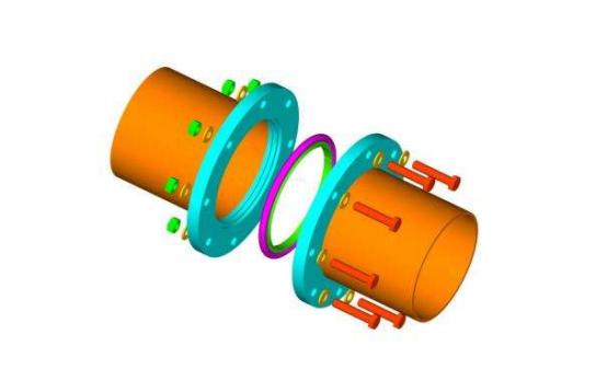 frpp管与pp静音管之间如何用法兰连接