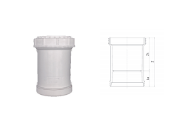 伸缩节丨立管检查口丨HDPE螺旋压盖式连接静音管