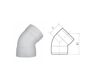 """5°度弯头双扩丨丨HDPE热熔承插链接静音管"""""""