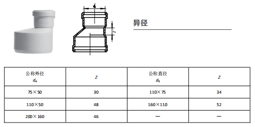 HDPE异径丨柔性承插静音管