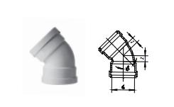 """5°弯头带插口丨丨HDPE压盖柔性承插链接静音管"""""""