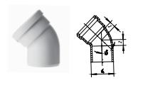 """5°弯头丨丨HDPE压盖柔性承插链接静音管"""""""