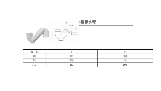 HDPE丨S型存水弯丨热熔承插静音排水管