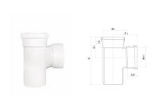 hdpe带插顺水三通丨HDPE螺旋压盖式连接静音管