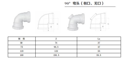 HDPE 45°弯头(无口)丨螺旋压盖静音排水管