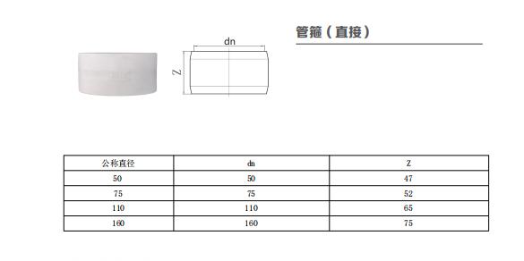 HDPE管箍(直接)丨热熔承插静音排水管