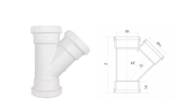 HDPE斜三通丨螺旋压盖静音管
