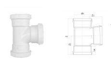 hdpe顺水三通丨HDPE螺旋压盖式连接静音管
