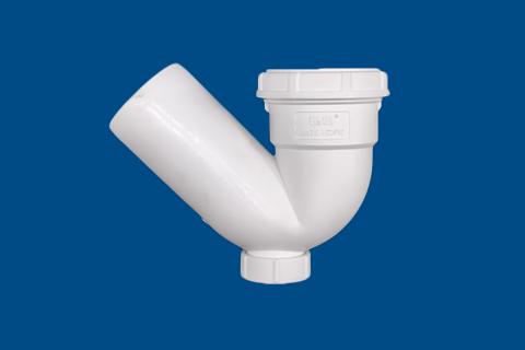 存水弯(带检)丨HDPE螺旋压盖连接静音管